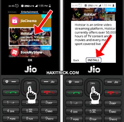 Install Hotstar App in Jio Phone