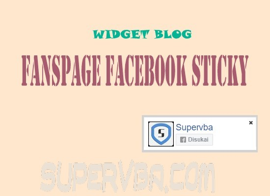 Memasang Widget Fanspage Facebook Mini Melayang