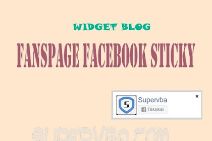 Memasang Widget Fanspage Facebook Melayang Mini, Ringan dan Responsive