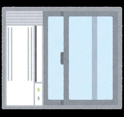 窓用エアコンのイラスト