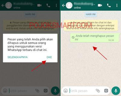 Cara Menghapus Pesan Yang Sudah Terkirim di Whatsapp