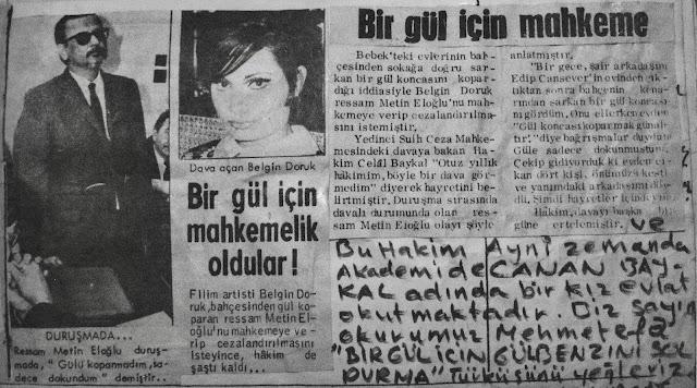 Dava olduğunda Aziz Çalışlar ve Alaeddin Aksoy dalga geçerek bu gazete alıntısını bana gönderdiler.