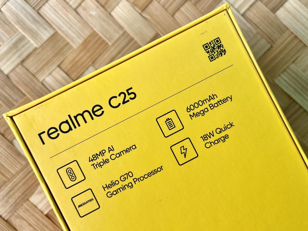 realme C25 Box Back