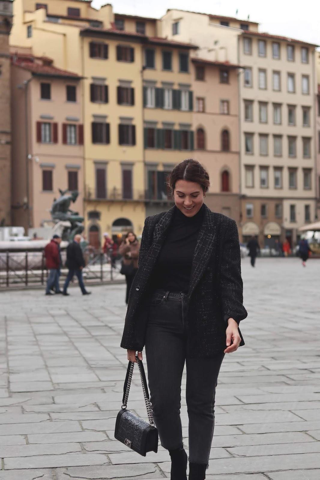 Le Chateau sparkle blazer cool festive outfit vancouver blogger
