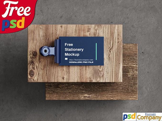 Download Free Stationery PSD Mockup #4