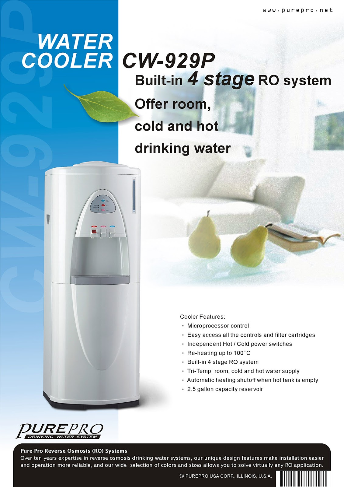PurePro® CW929P Reverse Osmosis Water Filtration System