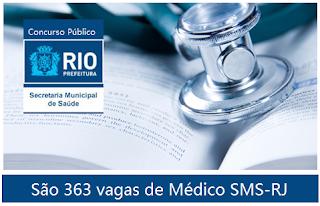 Saúde do Rio de Janeiro: Concurso para Médicos SMS-RJ
