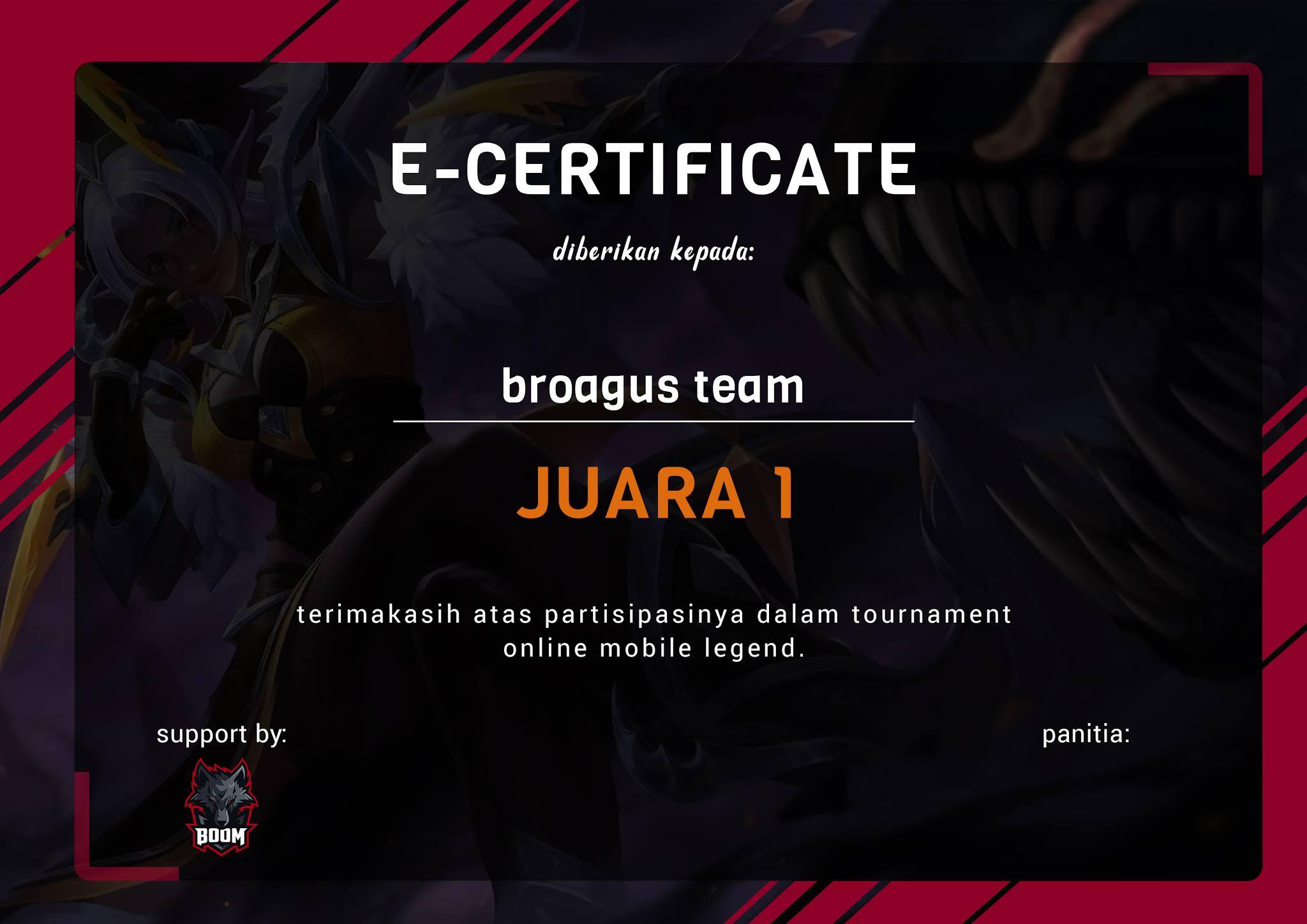 Download Mentahan Sertifikat Turnamen Mobile Legend Gratis Psd Broagus