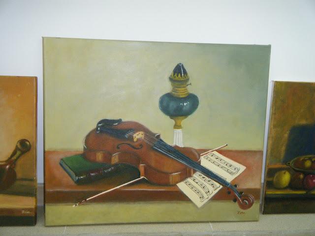 Les peintures de mes élèves à l'expo 6