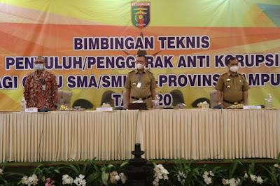 Pemprov Lampung Gelar Kegiatan Bimbingan Teknis Anti Korupsi Bagi Guru se-Provinsi Lampung