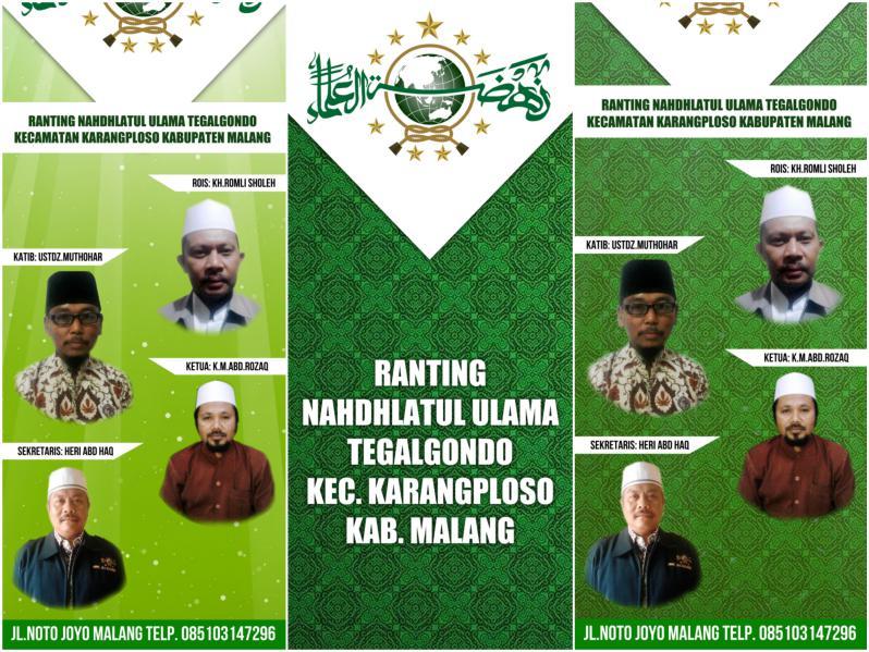 Desain X-Banner NU untuk Masjid Gratis