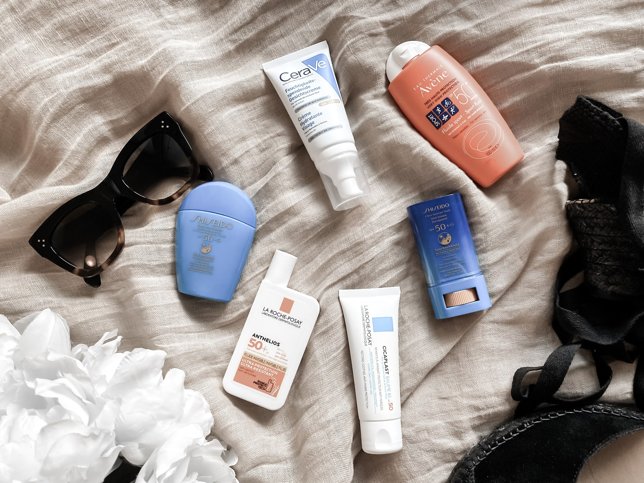 Summer Skincare Facial SPF Sunscreen Products