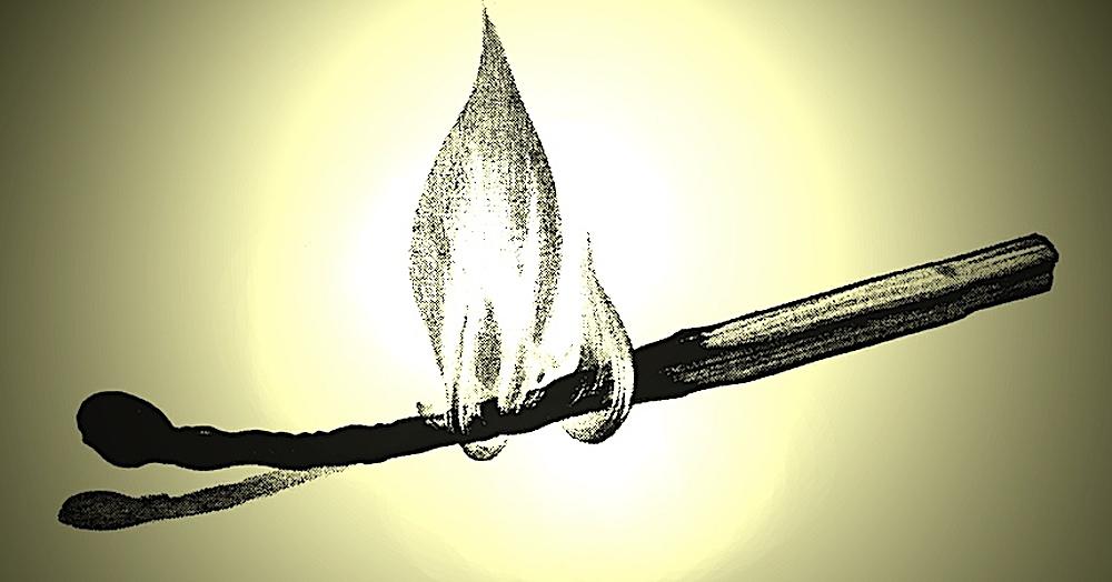 a burning match illustration