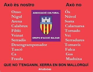 mallorquí VS catalá