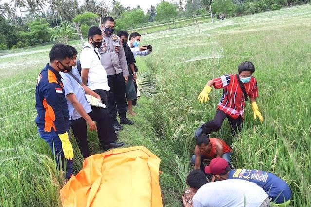 Warga temukan mayat perempuan di sawah Pancor Lombok Timur