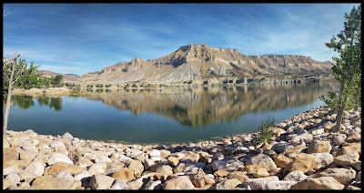 Millsite Reservoir with Reflection on Lake
