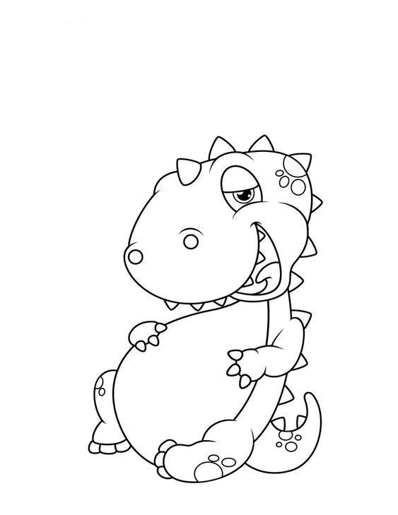 Hình tô màu con khủng long đẹp