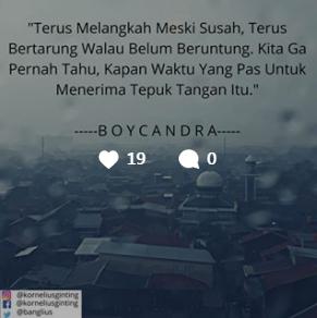 Kutipan Boy Candra