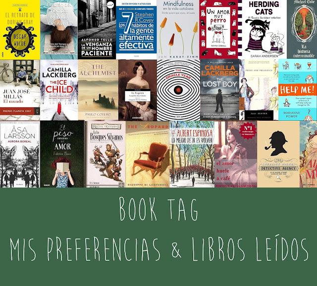 Book tag: Mis preferencias y libros leídos