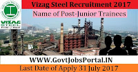 Vizag Steel Recruitment 2017– 19 Junior Trainees