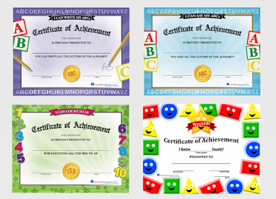 preschool achievement certificates