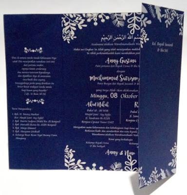 contoh undangan warna biru dongker