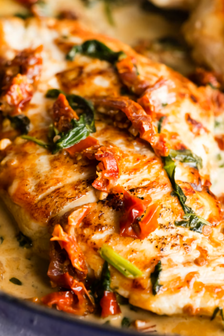 Skillet Creamy Tuscan Chicken Recipe