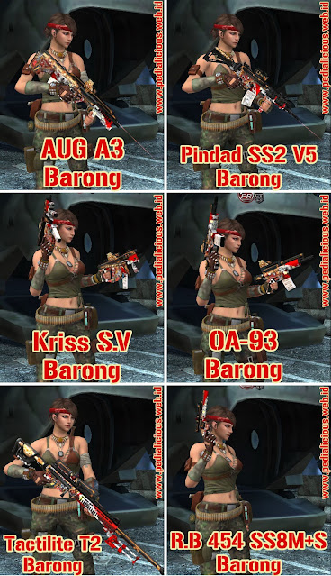 Preview Senjata Rules Seri Barong Point Blank Zepetto Indonesia
