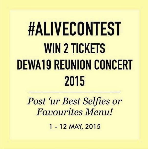 Alive Contest Berhadiah 2 Tiket Dewa19 Reunion Concert 2015