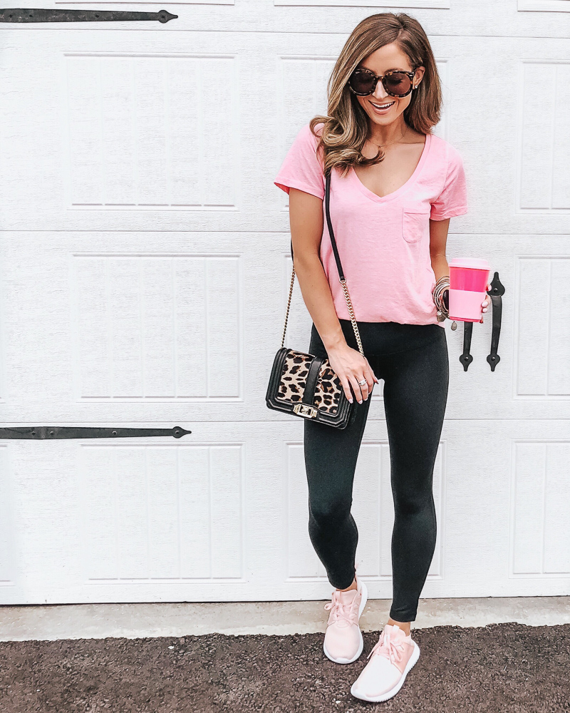 nordstrom make and model pink tee