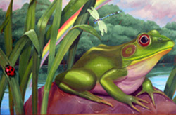 Frog Mural created for Windham Hospital