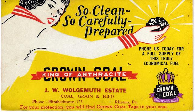 """Publicité pour du """"charbon propre"""" (lavé) datant des années 1930"""