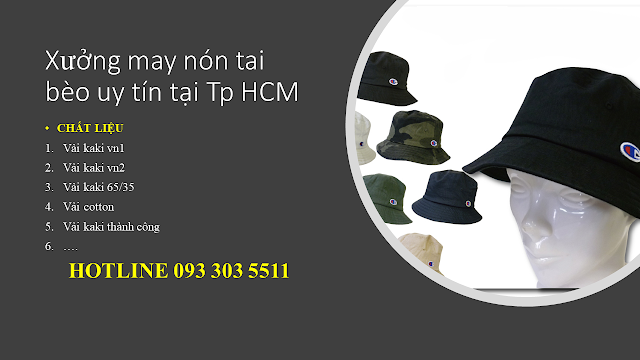 Xưởng may nón tai bèo giá tốt | Cơ sở may nón rộng vành | giacongnon.com