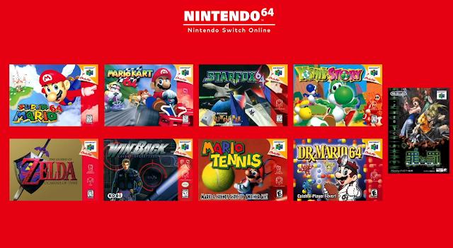 Nintendo 64 games Nintendo Switch Online October 2021
