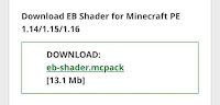 minecraft pe shader download