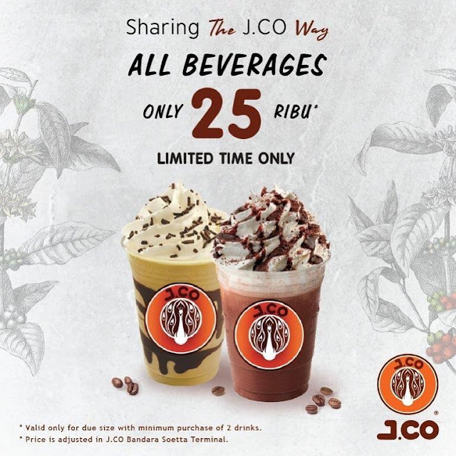 #JCO - #Promo All Beverage Hanya 25K (25 - 27 Nov 2019)