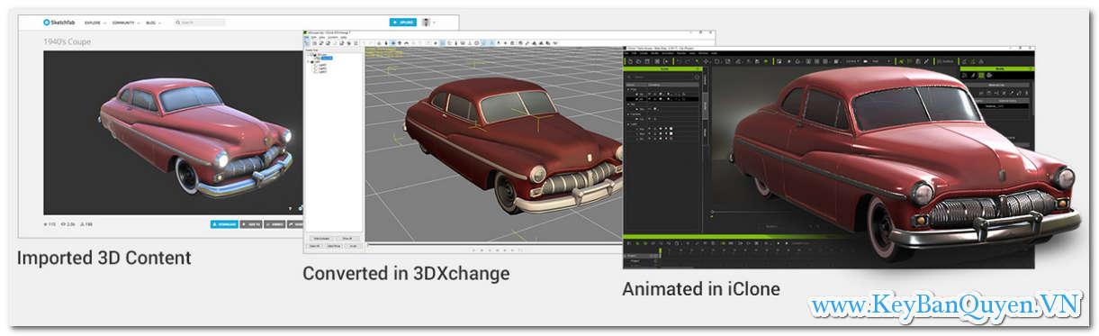 Download và cài đặt 3DXchange 7.5 Full Key, Phần mềm hỗ trợ cho Unity, Unreal, Maya, Blender, Cinema 4D hoặc Daz Studio .