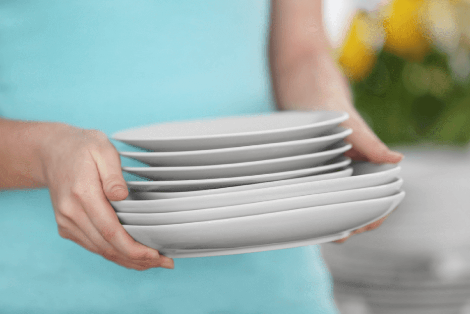 Comer em um prato pequeno