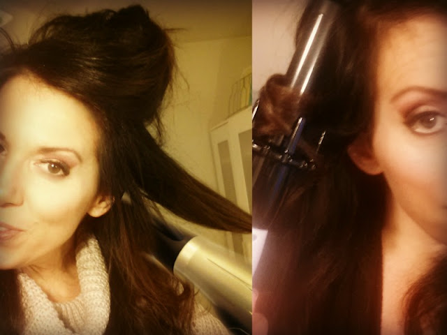 Setting your curls with cool air from hair dryer, by Best Beauty Blogger barbies beauty bits
