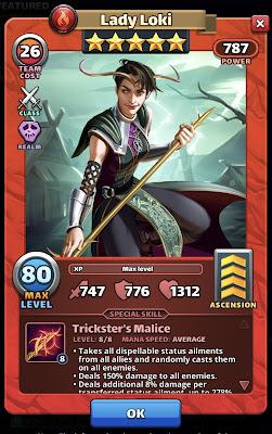 Lady Loki Valhalla Hero Card