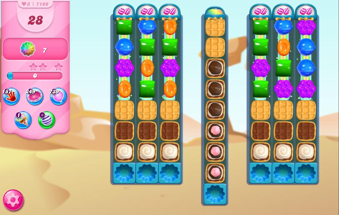 Candy Crush Saga level 7166