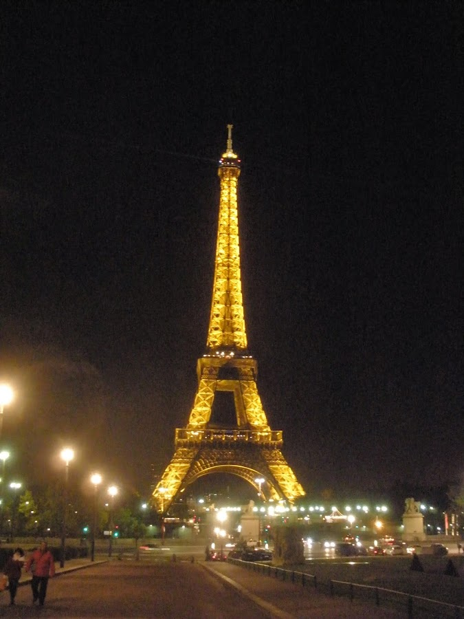 Torre Eiffel, vista nocturna