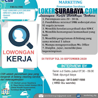 Walk In Interview at CV. Berkat Lancar Sejahtera Surabaya September 2020