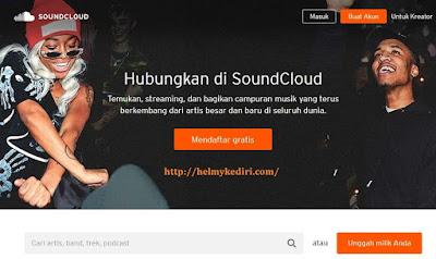 membuat akun soundcloud.com