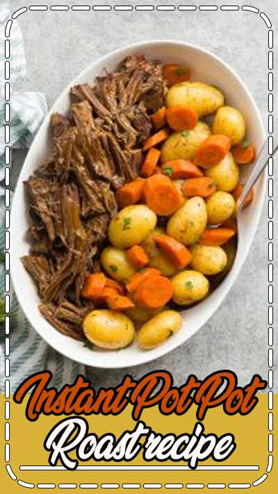 his Instant Pot Pot Roast recipe is an easy, comforting dinner that comes together so quickly in the pressure cooker! With tender veggies (not mushy!), a fall apart tender Instant Pot roast beef and seasoned gravy. With step by step VIDEO #instantpot #beef #recipe #cooking #dinner #healthy #pressurecooker