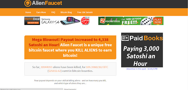 Alien Faucet Review get free bitcoin faucet direct to you