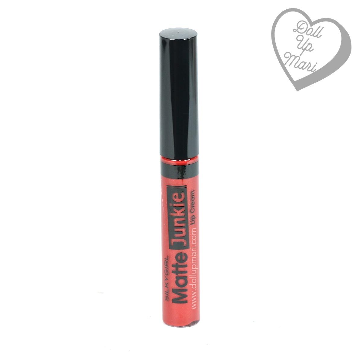 tube of SilkyGirl Matte Junkie Lipcolor (09 Rouge)