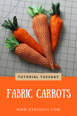 Homemade Stuffed Fabric Carrots Sewing Project