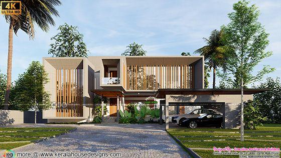 Minimalist Luxury House front elevation design type 2