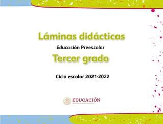 Láminas didácticas Tercer grado Preescolar 2021-2022